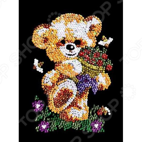 Мозаика из пайеток Shantou Gepai «Мишка» цена