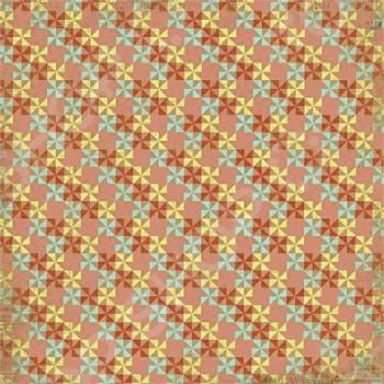 фото Бумага для скрапбукинга двусторонняя Morn Sun Pinwheels, купить, цена