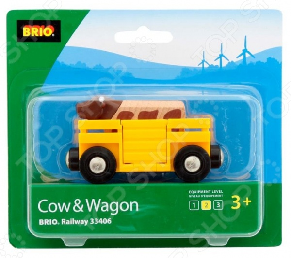 Вагон с коровой Brio 33406