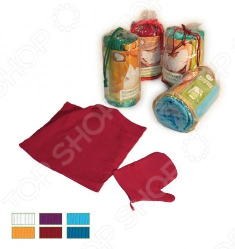 Комплект вафельный Банные штучки для мужчин комплект вафельный банные штучки для женщин