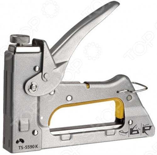 Степлер для узких скоб FIT 32126 это мебельный степлер для скоб типа 53 для закрепления обивки мебели, крепления плакатов, закрепления проволочной сетки и укрепления теплиц. Модель оснащена регулировочным винтом для управления силой удара. Степлер используется с узкими скобами типа: 31306-31314, 31326-31334, 31406-31414.