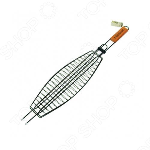 Решетка-гриль для рыбы с антипригарным покрытием BOYSCOUT решетка гриль boyscout звезда 61342