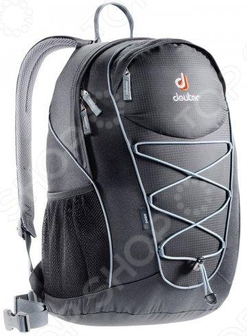 Рюкзак Deuter Go Go 2013 это отличный походный рюкзак, который составит вам добрую компанию в любом путешествии. Новый спортивный и урбанистический дизайн прекрасно смотрится и на тропинках в горах, и на оживленных улицах города. Идеально подходит для езды на велосипеде. Есть совместимость фиксатора для питьевой системы. Кроме того, рюкзак оснащен компрессионными ремнями, анатомическими плечевыми лямками и набедренным поясом с сетчатыми крыльями, двумя боковыми карманами.