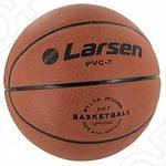 Мяч баскетбольный Larsen PVC принадлежит к категории любительских снарядов и имеет универсальную специализацию, другими словами, рекомендован для игры, как в зале, так и на уличных площадках с грунтовым и асфальтовым покрытием. Состоит из латексной камеры и покрышки изготовленной из ПВХ. Обладает высокой жесткостью, что позволяет получить предсказуемый отскок на твердом покрытии. Игра с этим мячом однозначно будет интересной, азартной и доставит массу положительных впечатлений как игрокам, так и зрителям.
