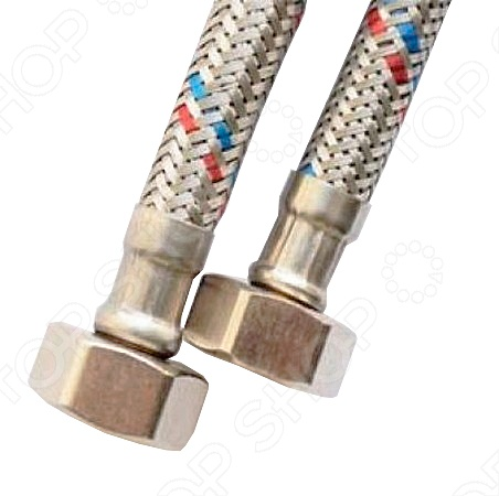 Подводка для воды РОС Профи применяется для присоединения различной сантехнической арматуры к смесителям. Она выдерживает достаточно высокие и низкие температуры, а значит подходит для использования в любых условиях. Гибкая подводка имеет жесткую конструкцию, которая отличается высокой гибкостью и устойчивостью к механическим воздействиям. Конструкция имеет оплетку из легированной стали, которая не подвергается коррозии и обеспечивает долгий срок службы приспособления.