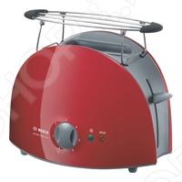 Тостер Bosch TAT 6104 с автоматическим центрированием тостов. Автоматическое отключение при застревании тоста. Теплоизоляция корпуса. Решетка для булочек: съемная. Съемный поддон для крошек. Режим приготовления замороженных тостов. Отдельная кнопка прерывания приготовления тостов. Бесступенчатый терморегулятор. Намотка кабеля.