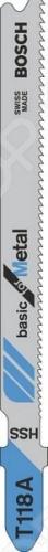 Набор пилок для лобзика Bosch T 118 A HSS  цена и фото