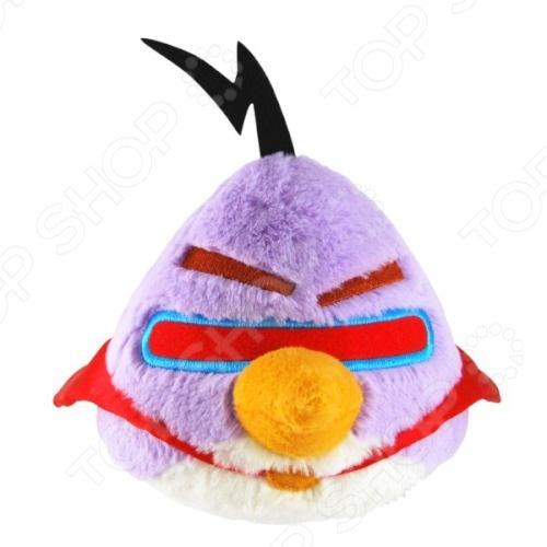 Игрушка мягкая со звуком Angry Birds «Фиолетовая птица» angry birds мяг игр 20см желтая птица и игрушка подвеска с клипом 7см