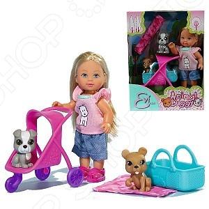 Кукла с аксессуарами Simba «Еви с двумя собачками и коляской»