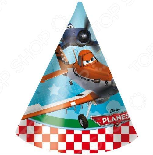 Колпаки Procos «Самолеты Дисней» procos аксессуар для детского праздника приглашения в конвертах самолеты 6 шт