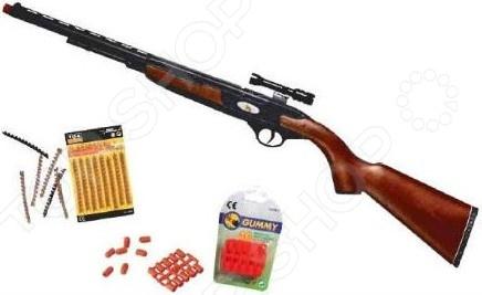 Винтовка с пульками Edison Giocattoli Devon-Line edison игрушечный набор с пистолетом мишенями и пульками target line santa f