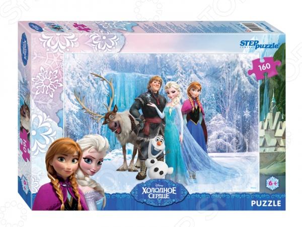 Пазл 160 элементов Step Puzzle «Холодное сердце» пазлы step puzzle пазл винни и его друзья 160 элементов