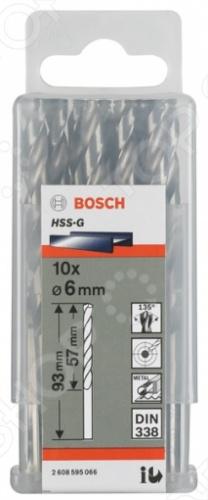 Набор сверл по металлу Bosch Standard HSS-G, DIN 338: 10 шт.Наборы сверл<br>Набор сверл по металлу Bosch Standard HSS-G, DIN 338, 10 шт представляет собой набор отличных ударопрочных и высокопроизводительных сверл, с помощью которых вам удастся просверлить необходимые отверстия в таких поверхностях как: металл и камень. Возможность использовать сверла с ударными дрелями, надёжность, обеспечивающая высокое качество выполняемых работ, а так же долговечность использования, несомненно, придется по душе любому мастеру.<br>