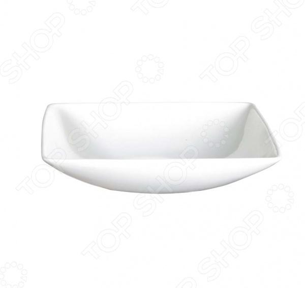 Чаша квадратная Asa Selection A table малаяСалатницы<br>Чаша квадратная Asa Selection A table малая выполнена из костяного фарфора высокого качества. Великолепная износоустойчивость при маленьком весе и стильный современный дизайн являются основными достоинствами компании ASA selection лидера по изготовлению продукции из фарфора и керамики. Серия привлекает своей текстурой и приятным дизайном, именно поэтому эта серия так часто встречается в ресторанах и гостиницах всего мира. Костяной фарфор это прочный и надежный материал, который позволяет Вам использовать эту посуду не только для сервировки праздничных столов по особым случаям, но и в повседневной жизни. Уникальные свойства этого материала достигаются за счет добавления в жидкую смесь каолина белой глины , полевого шпата и кварца. После того как изделию придана необходимая форма, приступают к обжигу при температуре свыше 1200 градусов, что придает изделиям такой уникальный оттенок. Кроме того, посуда этой марки пригодна для разогревания пищи в микроволновой печи и мытья в посудомоечной машине.<br>