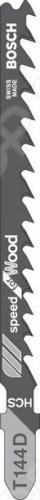 Набор пилок для лобзика Bosch T 144 D HCS пилки для лобзика по металлу для прямых пропилов bosch t118a 1 3 мм 5 шт