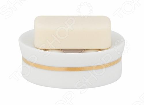 Мыльница фарфоровая Spirella OPERAАксессуары для ванной комнаты<br>Мыльница фарфоровая Spirella OPERA - это незаменимый аксессуар любой ванной комнаты. Изделия отличается модным дизайном и изготовлена из высококачественного фарфора. Данная модель овальной формы отлично впишется в любой интерьер. Высота - 4 см. Диаметр - 10,5 см.<br>