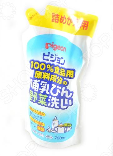 Сменный блок средства для мытья бутылочек и овощей Pigeon