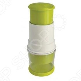 Измельчитель для лука и овощей Regent Рrеsто очень практичен и удобен в использовании. С помощью этой овощерезки-чоппера вы быстро измельчите овощи или фрукты. Закрытая емкость позволяет не испачкаться соком продуктов, а также дает возможность без слез и запаха нарезать лук и чеснок. Модель поставляется в цветной подарочной упаковке.