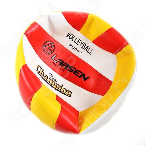 Мяч волейбольный Larsen PU052Мячи волейбольные<br>Мяч волейбольный Larsen PU052, выполненный из полиуретана. Бутиловая камера, 3 слоя подкладочного материала.<br>