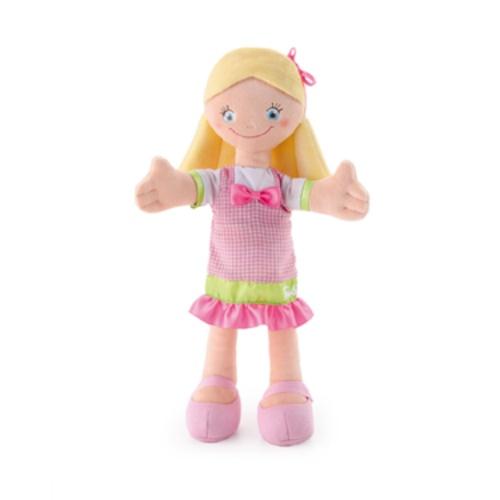 Кукла мягкая Trudi Девочка в розовом платье с бантом. Уцененный товар