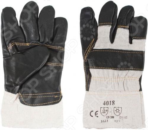 Перчатки рабочие кожаные с мехом внутри РОС 12445. В ассортименте