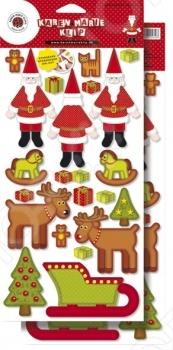 фото Аппликация вырубная бумажная Rayher «Санта и Рудольф», купить, цена