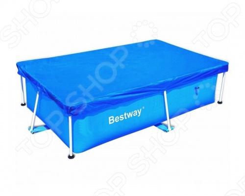 Чехол защитный для бассейна прямоугольного на стойках Bestway 58104