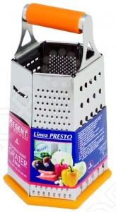 Терка шестисторонняя Regent 93-АС-GR-40Терки. Шинковки<br>Терка шестисторонняя Regent 93-АС-GR-40 это прекрасная терка, которая станет вашей верной помощницей на кухне. Она предназначена для быстрой нарезки крупной соломкой, шинковки овощей и фруктов. Высококачественные острые лезвия ножей, гарантирующие быструю и равномерную нарезку. Эргономичный дизайн отлично впишется вашу кухню. Благодаря ручке и контейнеру вы сможете нарезать любые продукты с легкостью.<br>
