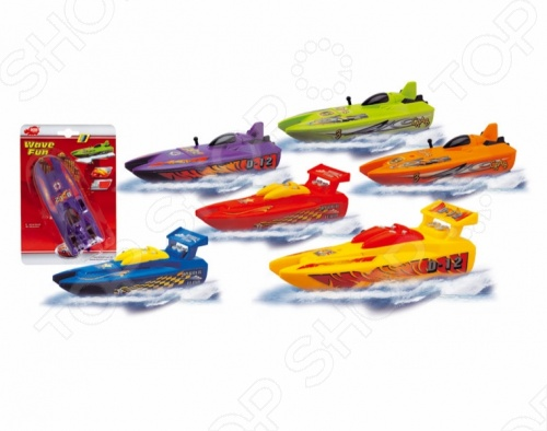 Лодка Dickie игрушечная. В ассортиментеИгрушки для ванны<br>Товар продается в ассортименте. Вид изделия при комплектации заказа зависит от наличия товарного ассортимента на складе. Лодка Dickie игрушечная отличный подарок для вашего малыша. Яркий и стильный дизайн придется по душе ребенку. Лодка может плыть по воде, поэтому станет замечательной игрой при купании в ванной или водоеме. Игрушка сделана из высококачественных материалов, поэтому полностью безопасна для детей. Изделие работает от батареек, поэтому спокойно проплывет от одного конца ванной до другого. Лодка Dickie игрушечная развивает вестибулярный аппарат, воображение, внимание и мышление вашего малыша.<br>