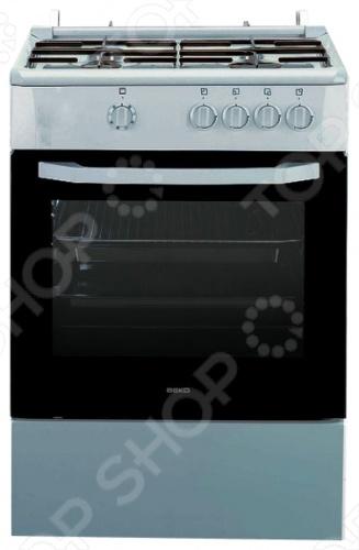 Плита BEKO CSG 52010 WПлиты<br>Плита BEKO CSG 52010 W это отличная плита, которая прекрасно подойдет в дизайн вашей кухни. Варочная панель, как и духовка газовая. Управление механическое, переключатели поворотные. Духовка оснащена специальным стеклом и подсветкой. Панель варочной поверхности сделана из эмали, 4 конфорки, легко очищается. Есть ящик для посуды.<br>