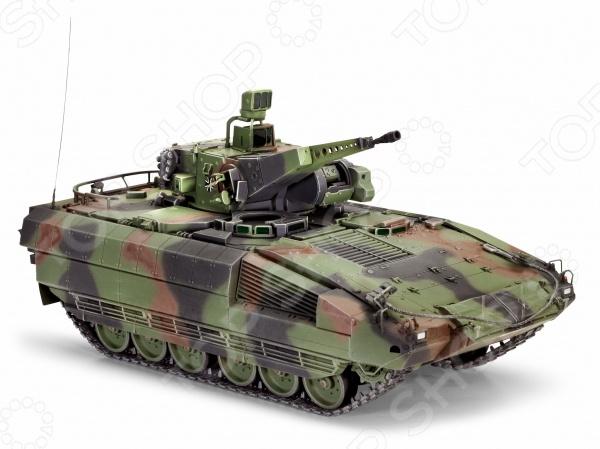 Сборная модель боевой машины пехоты Revell SPz PumaТанки<br>Сборная модель Revell SPz Puma представляет собой точную копию настоящей боевой машины пехоты. Состоит из 177 деталей, которые юный механик должен собрать сам. Во время игры с такой машиной у ребенка развивается мелкая моторика рук, фантазия и воображение. Современная немецкая БМП выпущена известной компанией по производству игрушек Revell. Изготовлена из пластика и обладает потрясающей детализацией. Сборная модель Revell SPz Puma является отличным подарком не только ребенку, но и коллекционеру. Клей, кисточка и краски в комплект не входят.<br>