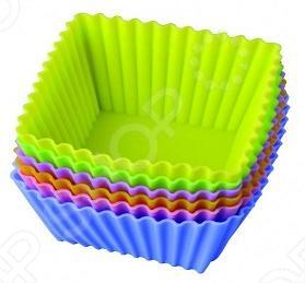 Набор форм для выпечки силиконовый Regent «Тарталетки-квадратные»