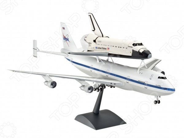 Сборная модель с шаттлом Revell Boeing 747 SCA & Space Shuttle decool 3118 city 285pcs architect changed 3 in 1 space shuttle explorer building block diy toys educational kids gifts