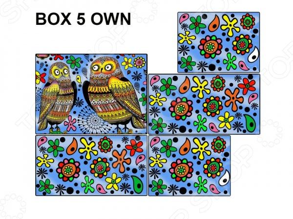 Коробка-раскраска Color Velvet «Совы»Наборы для раскрашивания<br>Коробка-раскраска Color Velvet Совы позволят творческим личностям любого возраста провести время с пользой, ведь в наборе уже есть все необходимое для создания функциональной подарочной коробочки. Уникальной особенностью данного набора можно считать мягкие контуры нанесенного рисунка, что обеспечит раздельное нанесение различных цветов и не даст фломастерам растечься. В комплект входят 10 фломастеров.<br>