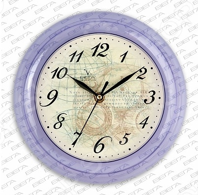Часы Вега П 6-13-13 «Карта под старину»