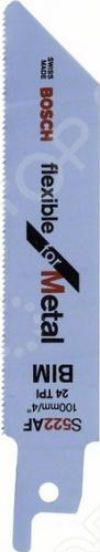 Набор пилок сабельных Bosch S 522 AF пилки для лобзика по металлу для прямых пропилов bosch t118a 1 3 мм 5 шт