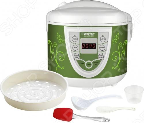 Мультиварка Vitesse VS-590 - современный и многофункциональный прибор, в котором вы легко и быстро сможете приготовить ваши любимые блюда.Съёмная чаша с антипригарным покрытием легко моется, а буклет с рецептами позволит разнообразить домашнее меню. Прибор реализует все способы приготовления пищи, используемые в здоровом питании. Варка на пару, тушение, выпечка - знакомые и часто используемые функции удобно собраны в одном приборе.