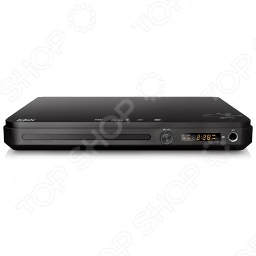 DVD-плеер BBK DVP033S это устройство с ультра-компактным корпусом, предназначенное для просмотра ваших любимых фильмов, записанных свадеб и семейных торжеств. Это недорогой плеер с хорошим соотношением цена качество. Для удобства использования он оснащен информационным дисплеем и системой Караоке с микрофонным входом . Поддержка форматов:  MP3  WMA  MPEG4  DivX  XviD  VideoCD  SVCD  HDCD  JPEG BBK DVP033S имеет стереофонический аудиовыход и композитный видеовыход. Система Dolby Digital гарантирует отличное звуковое сопровождение к фильмам.