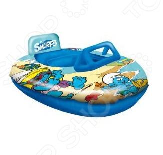 Лодка надувная детская Mondo Смурфы отличный подарок для вашего малыша. Игрушка напоминает небольшой катер. Наличие ветрового стекла и подголовника сзади сделают изделие еще более реалистичным и удобным. Лодка надувается с помощью насоса. Изделие послужит отличным транспортом на водоемах. Лодка надувная детская Mondo Смурфы обязательно понравится вашему ребенку.