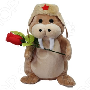 Игрушка интерактивная Нежный Моржик забавная анимированная игрушка! Моржик одет в шапку-ушанку с эмблемой красной звезды, а в лапках держит красную розу! Нажмите кнопку на левом ласте моржика, и он исполнит для вас романтическую песню Сиреневый туман . Романтичная песня Сиреневый туман в исполнении Моржика будет достойным подарком для второй половинки на любой праздник. Моржик открывает рот в такт словам песни, а также забавно подергивает головой и телом, словно пританцовывая. Нежный моржик станет отличным подарком как для детей, так и для взрослых!