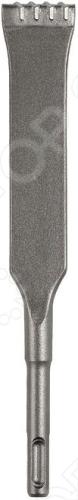 Зубило стыковое Bosch 1608690014 SDS-PLUS представляет собой инструмент с плоским рабочим профилем и твердосплавными вставками на конце, который применяется с перфоратором для нарезки швов.