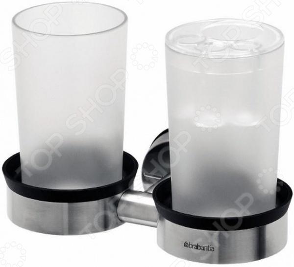 фото Держатель для двух стаканов Brabantia 400742, Держатели для ванной комнаты и туалета