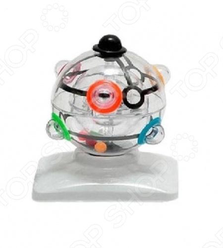 Головоломка «Сфера»Головоломки<br>Головоломка Сфера представляет собой вращающиеся на осях три прозрачные сферы разного размера, находящихся одна внутри другой. Внутри центральной сферы заключены 6 цветных шаров. Цель игры состоит в том, чтобы через отверстия в сферах довести каждый шар до гнезда с соответствующим цветом, расположенного на внешней сфере. Для этого их нужно провести через среднюю сферу, имеющую два отверстия. При всем при том необходимо следить, чтобы шарики, уже помещённые в свои ячейки, не выпали из них. Основными особенностями данной модели стали: улучшение не только навыков координации, но и помощь в развитии интеллектуальных способностей человека; диаметр составляет 100 мм. Порадуйте себя и свое драгоценное чадо столь приятным, а главное, весьма полезным подарком, как головоломка Сфера !<br>