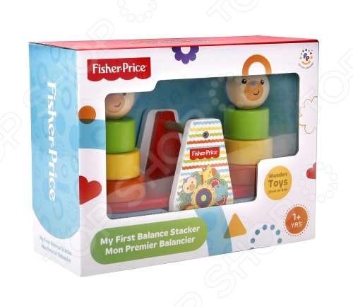 фото Игрушка деревянная развивающая Fisher Price «Качели с пирамидками», Деревянные игрушки для малышей