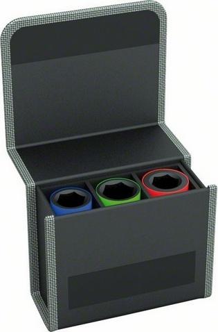 Набор головок для торцевых ключей Bosch 2608551102 набор сменных головок и насадок topex 38d669