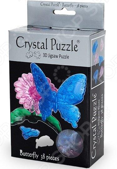 Кристальный пазл 3D Crystal Puzzle «Бабочка Голубая» metal diy nano 3d puzzle model tiger tank kids diy craft 3d metal model puzzles 3d solid jigsaw puzzle