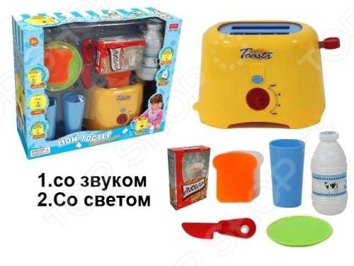 Тостер детский с аксессуарами Zhorya Х75823 ролевые игры zhorya тостер с аксессуарами