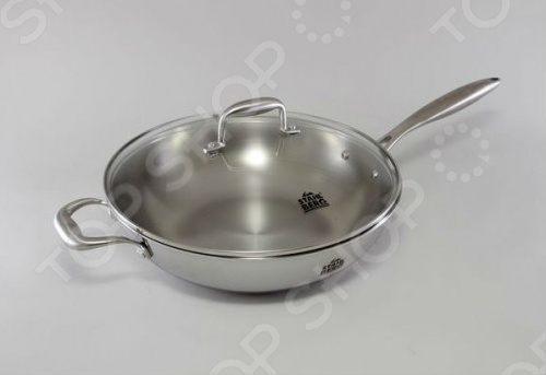 Сковорода вок с крышкой Stahlberg KROMWELL 1613-S сковорода овальная 34х24х4 5 см stahlberg 2512 s