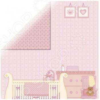 фото Бумага для скрапбукинга Rayher «Маленькая девочка - комната», купить, цена