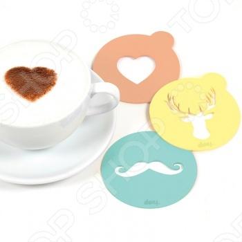 Набор трафаретов для кофе Doiy Hip Coffee